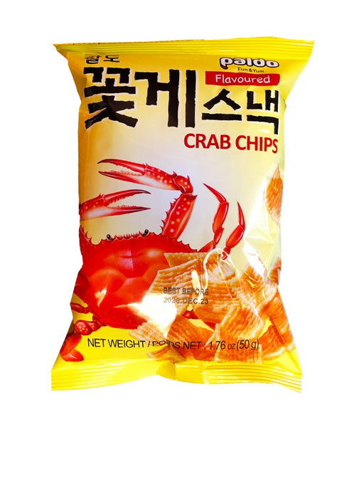 Paldo Crab Flavored Chips 1.76oz Front