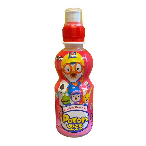 Paldo Pororo Drink Strawberry Flavor 7.95oz Front