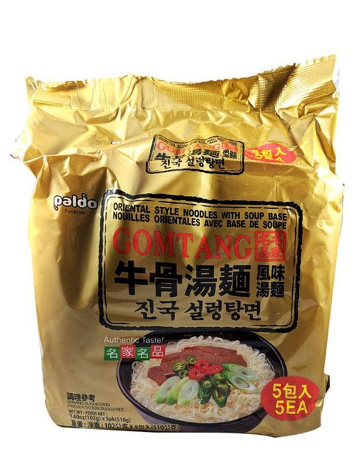 Package Paldo Gomtang Beef Bone Flavor Noodle Soup Family Pack 18oz Front