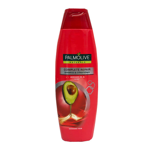 Package Palmolive Naturals Complete Repair Shampoo and Conditioner (Red) 6.08oz Front