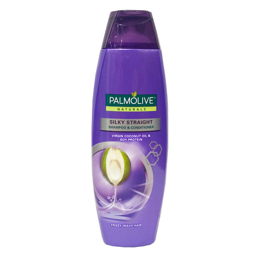 Palmolive Naturals Silky Straight Shampoo and Conditioner (Purple) 6.08oz Front