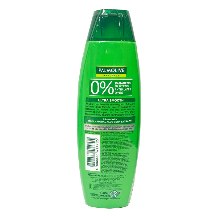 Palmolive Naturals Ultra Smooth Shampoo and Conditioner (Green) 6.08oz Back