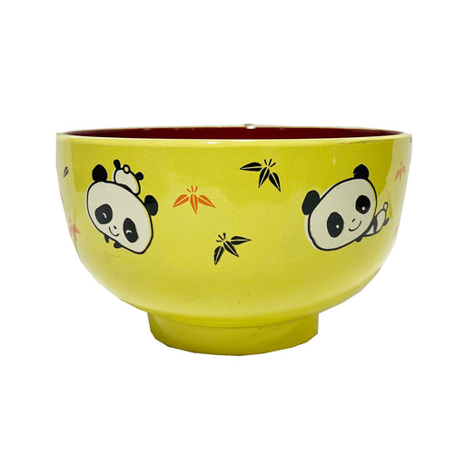 Panda Yellow Rice Bowl Small Front
