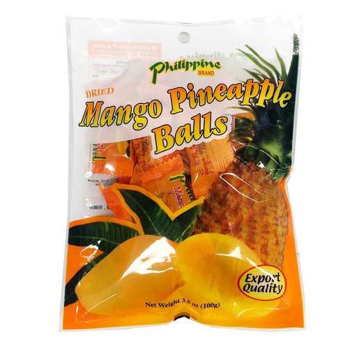 Package Philippine Brand Dried Mango Pineapple Balls 3.5oz Front