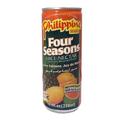 Philippine Brand Four Seasons Juice 8.4oz Front
