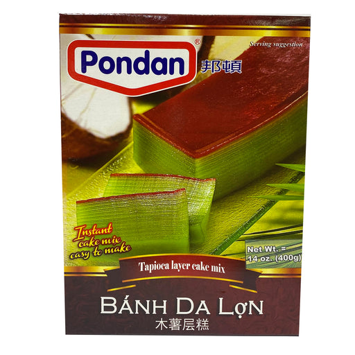 Package Pondan Instant Tapioca Layer Cake Mix Banh Da Lon 14.1oz Front