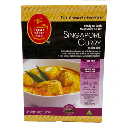Package Prima Taste Singapore Curry Sauce Kit 10.58oz Front
