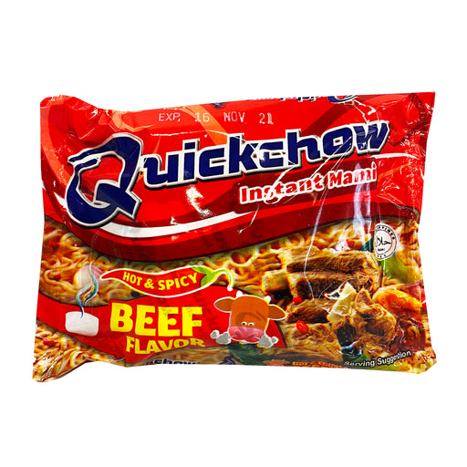 Quickchow Instant Mami Beef Flavor - Hot & Spicy 1.94oz Front