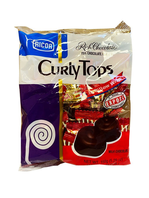 Ricoa Curly Tops Milk Chocolate 5.29oz Front