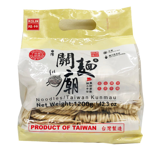 Package Rolin Dried Taiwan Kunmau Noodles 42.3oz Front