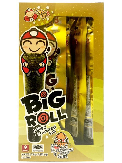 Tao Kae Noi Grilled Seaweed Roll - Spicy Squid Flavor 1.14oz Front