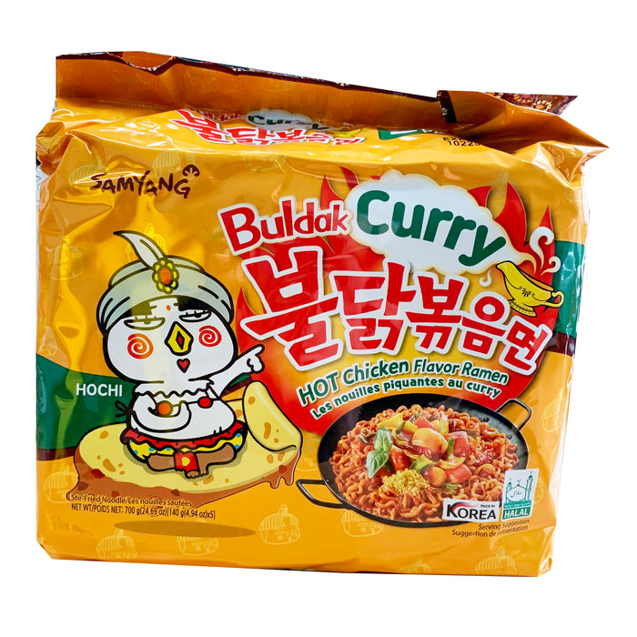Samyang Hot Chicken Ramen - Buldak Curry Flavor 5 Pack 24.69oz