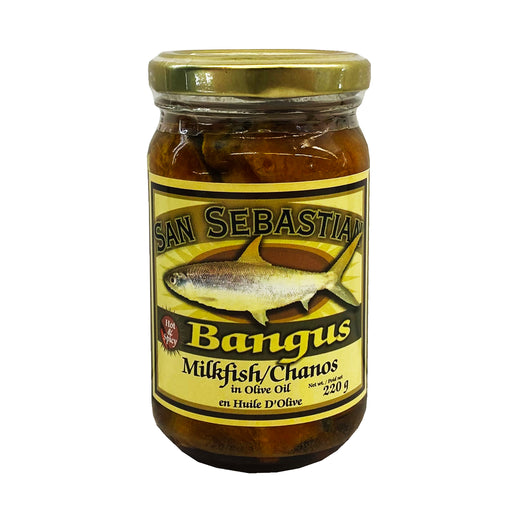 San Sebastian Bangus In Olive Oil - Hot & Spicy 8oz Front