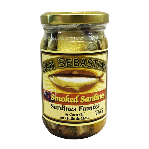 Package San Sebastian Smoked Sardines In Corn Oil 8oz Front