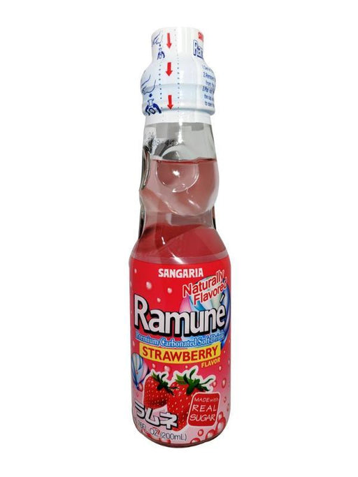 Sangaria Ramune - Strawberry Flavor 6.76oz Front