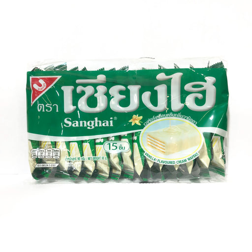 Package Sanghai Vanilla Cream Wafers 15 Pack Front