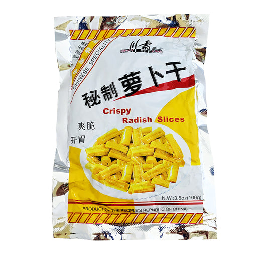 Package Spicy King Crispy Radish Slices 3.5oz Front