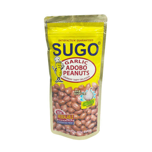 Package Sugo Salted Peanuts Garlic Adobo Flavor 3.53oz Front