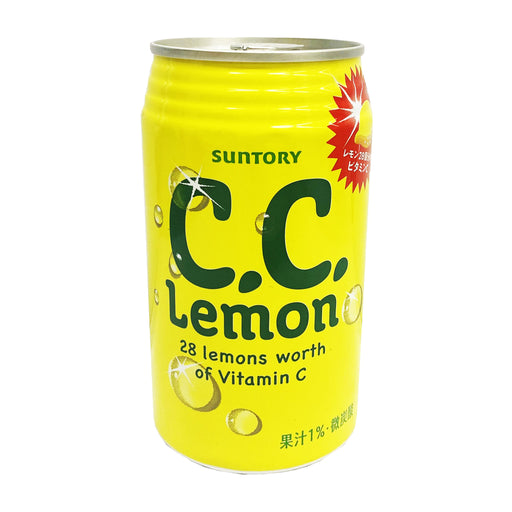 Suntory C.C. Lemon Soft Drink 11.8oz Front