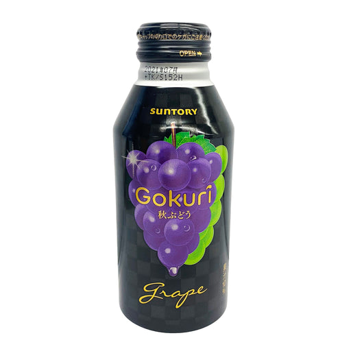 Suntory Gokuri Grape Juice Drink 14oz Front