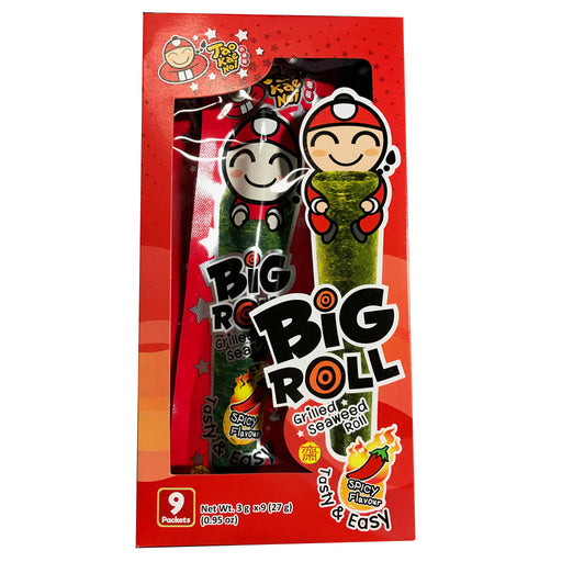 Package Tao Kae Noi Grilled Seaweed Roll - Spicy Flavor 1.14oz Front