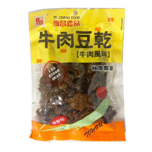 Package Te Chang  Bean Curd Cake Beef Flavor 4oz Front