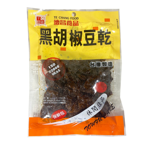 Te Chang Bean Curd Cake Black Pepper Flavor 4oz Front