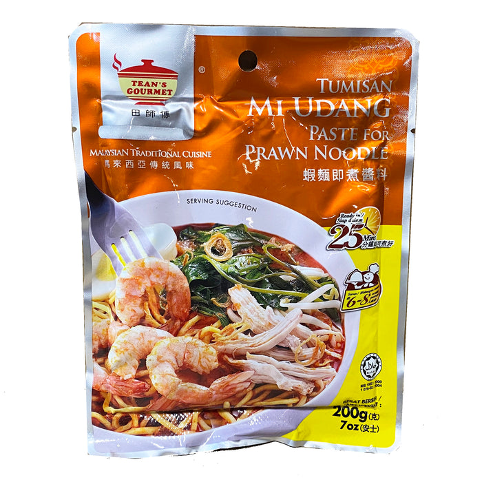 Package Tean's Gourmet Paste - Prawn Noodle 7oz Front