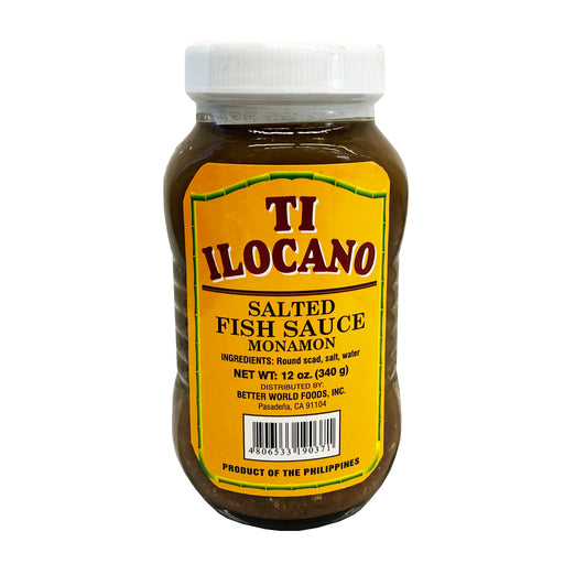 Package Ti Ilocano Salted Fish Sauce Monamon 12oz Front