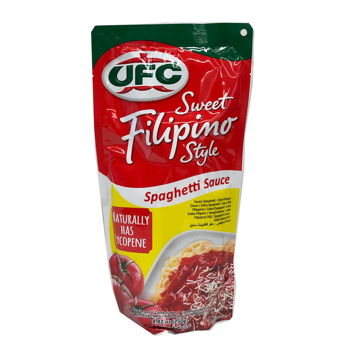 Package UFC Sweet Filipino Style Spaghetti Sauce 8.82oz Front