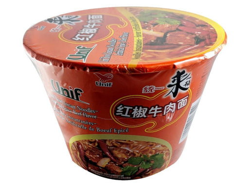 Unif Bowl Instant Noodles - Spicy Beef Flavor 3.88oz Image 1