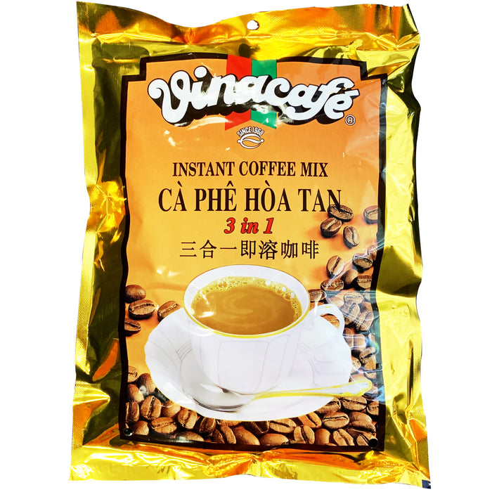 Vincafe 3 in 1 Instant Coffee Ca Phe Hoa Tan 14oz Front