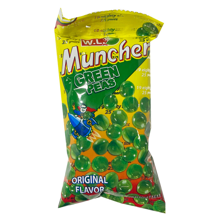 W.L. Muncher Green Peas 2.46oz Front