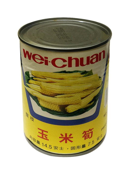 Wei Chuan Baby Corn Spears 14.5oz Front