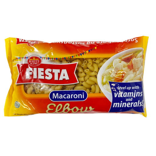 White King Fiesta Elbow Macaroni Noodles 14.10oz Front