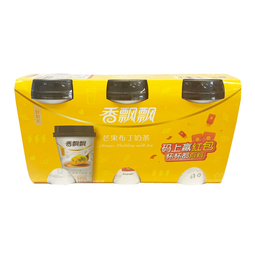 Package Xiang Piao Piao Milk Tea Mango Pudding 3 cups 2.80oz Front