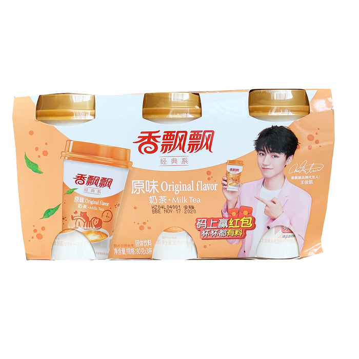 Xiang Piao Piao Milk Tea Original 3cups 2.82oz Front