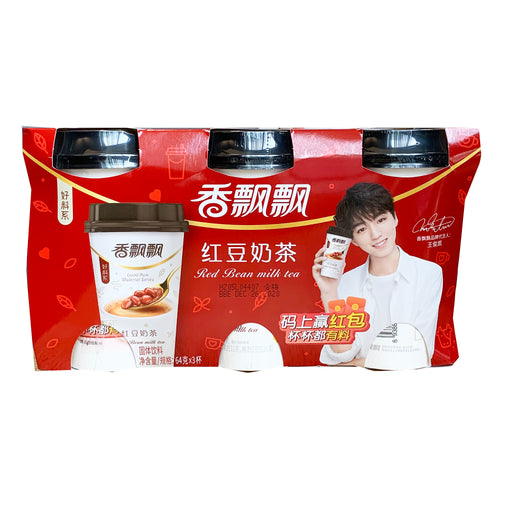 Xiang Piao Piao Milk Tea Red Bean 3cups 2.82oz Front