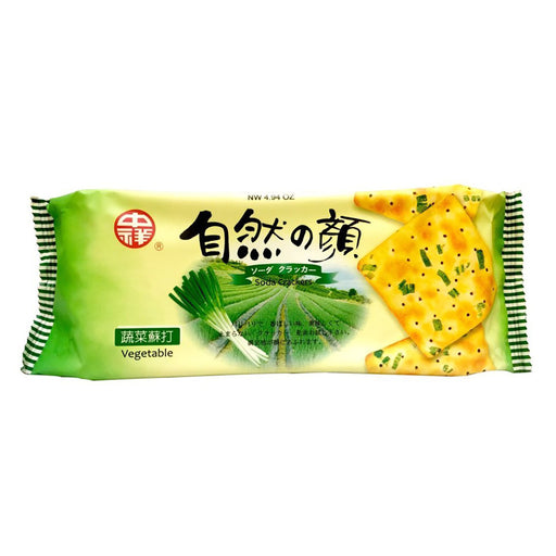Package Zhong Xiang Soda Crackers Vegetable Flavor 4.94oz Front