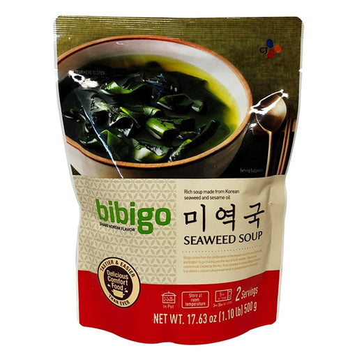 Package CJ Bibigo Seaweed Soup 17.6oz Front