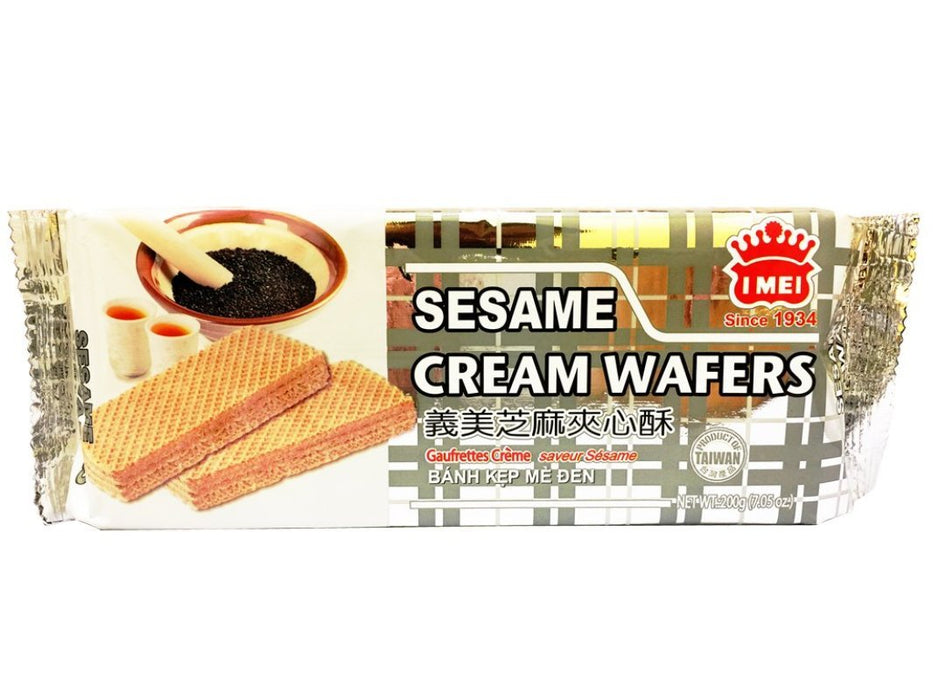 Imei Sesame Cream Wafers 7.05oz Front
