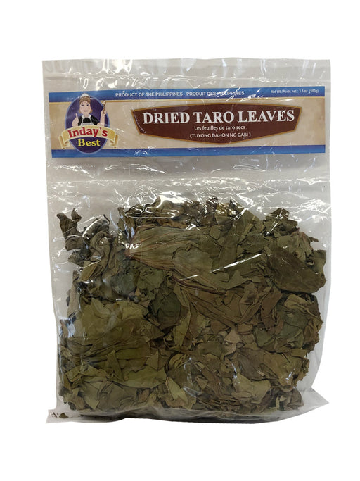 Inday's Best Dried Taro Leaves 3.52oz Front