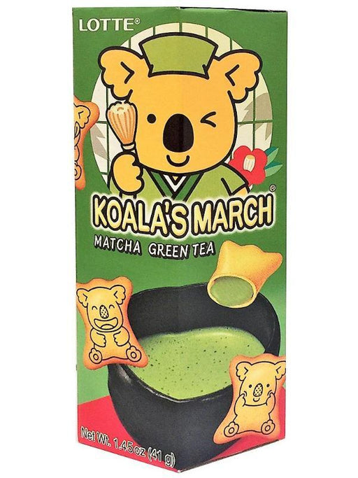 Lotte Koala's March Matcha Green Tea Cookies Front