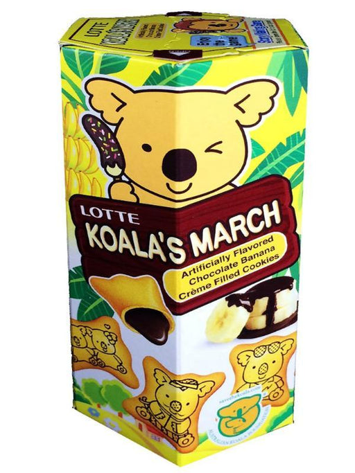 Lotte Koala's March Chocolate Banana Cookies 1.45oz Front