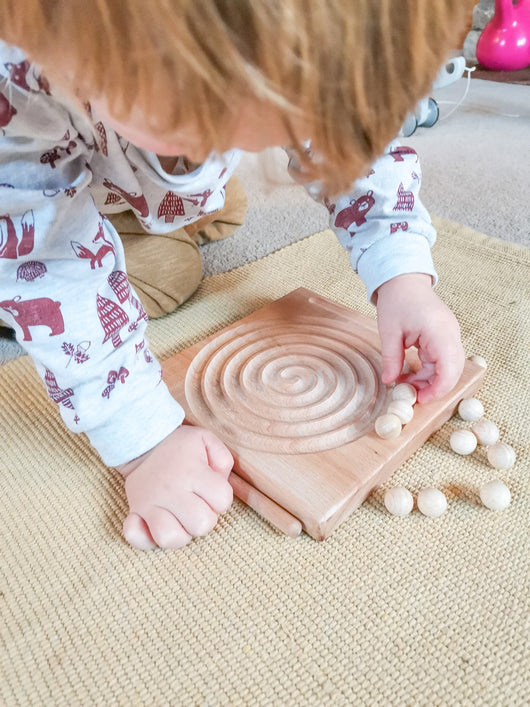 Arithmetic Spiral Tracing Board and Fine Motor Game