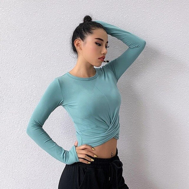 Knotted Spandex Top
