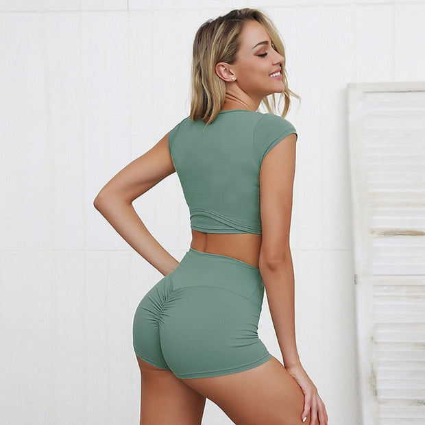 Seamless Crop Top and Shorts