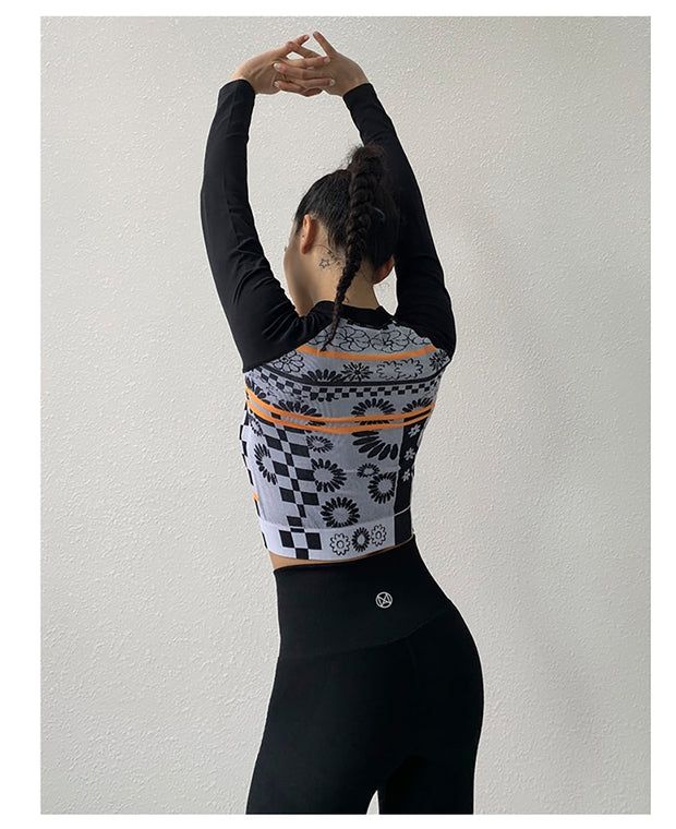 Floral Printed Yoga Set