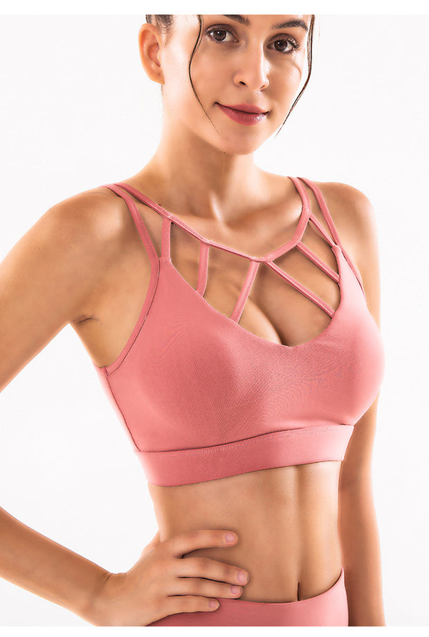 Offset Breathable Workout Bra