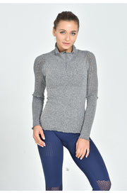 Mesh Turtle Neck Sweater